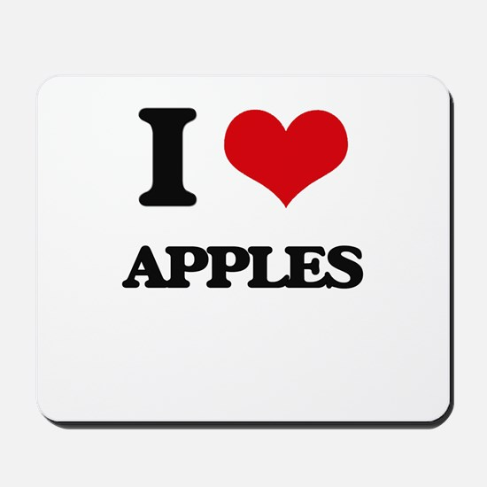 I Love Apples ( Food ) Mousepad
