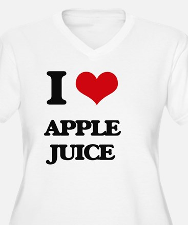 I Love Apple Juice ( Food ) Plus Size T-Shirt