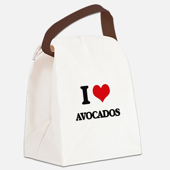I Love Avocados ( Food ) Canvas Lunch Bag