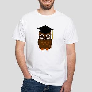 Graduation Owl White T-Shirt