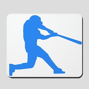 Blue Baseball Batter Mousepad