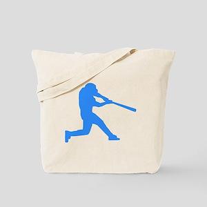 Blue Baseball Batter Tote Bag