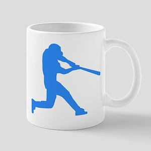 Blue Baseball Batter Mugs