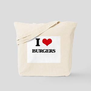 I Love Burgers ( Food ) Tote Bag
