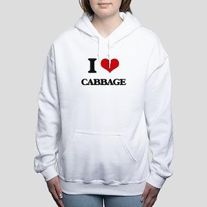 I Love Cabbage ( Food ) Women's Hooded Sweatshirt