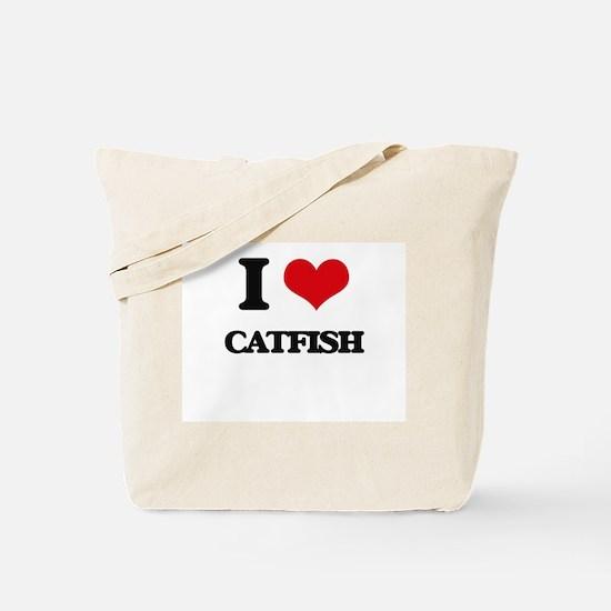 I Love Catfish ( Food ) Tote Bag