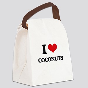 I Love Coconuts ( Food ) Canvas Lunch Bag