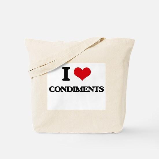 I Love Condiments ( Food ) Tote Bag