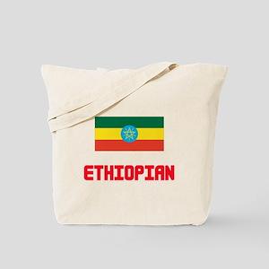 Ethiopian Flag Design Tote Bag