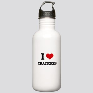 I Love Crackers ( Food Stainless Water Bottle 1.0L