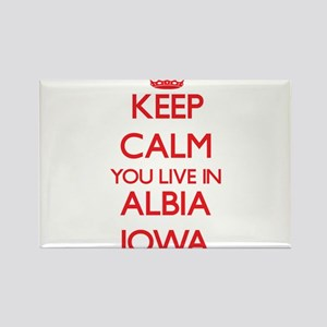 Keep calm you live in Albia Iowa Magnets
