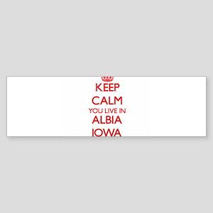 Keep calm you live in Albia Iowa Bumper Sticker