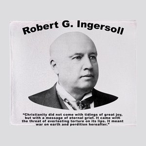 Ingersoll: Christianity Throw Blanket