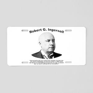 Ingersoll: Christianity Aluminum License Plate