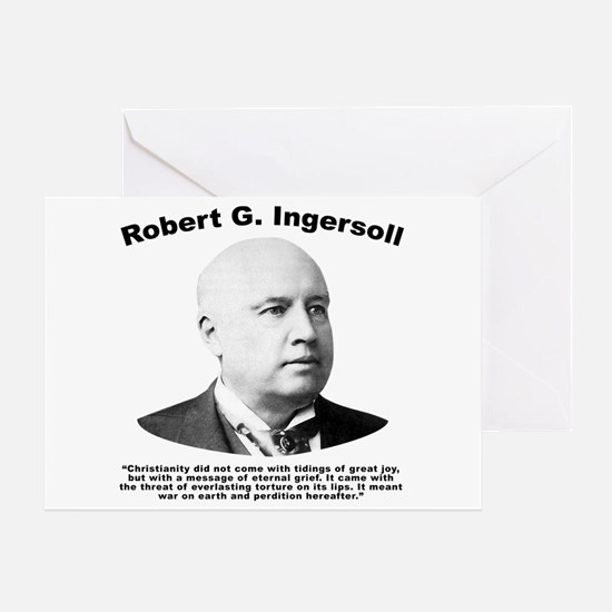 Ingersoll: Christianity Greeting Card