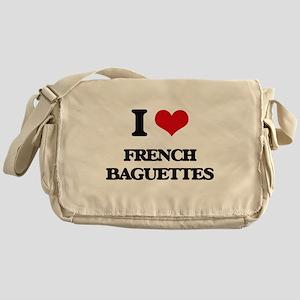 I Love French Baguettes ( Food ) Messenger Bag
