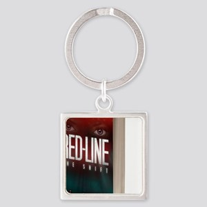 Red-Line: The Shift Book Cover 3-D Square Keychain