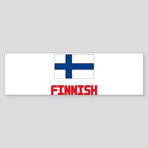 Finnish Flag Design Bumper Sticker