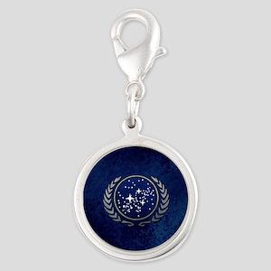 STARTREK UFP STONE Silver Round Charm