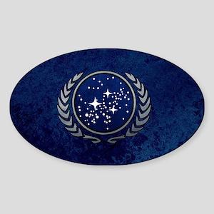 STARTREK UFP STONE Sticker (Oval)
