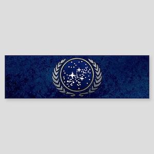 STARTREK UFP STONE Sticker (Bumper)
