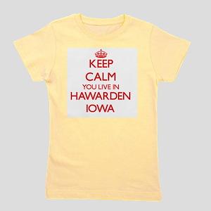 Keep calm you live in Hawarden Iowa Girl's Tee