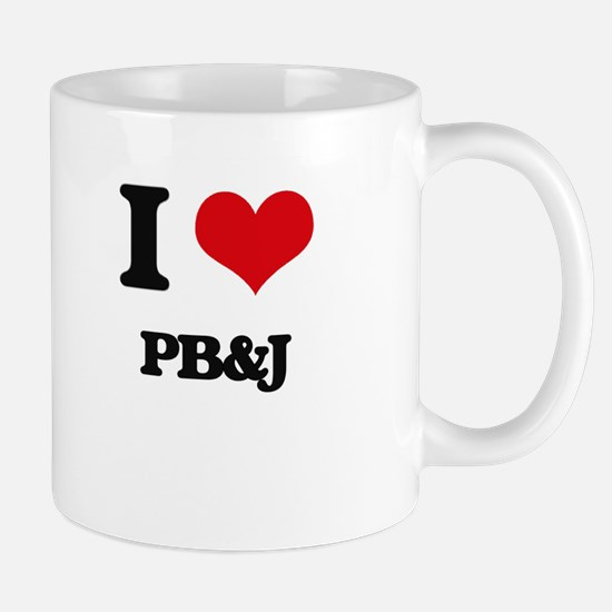 I Love Pb&J ( Food ) Mugs