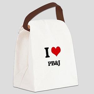 I Love Pb&J ( Food ) Canvas Lunch Bag