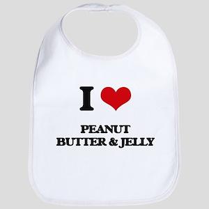 I Love Peanut Butter & Jelly ( Food ) Bib