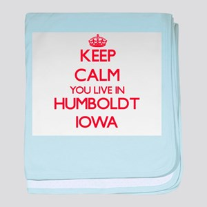 Keep calm you live in Humboldt Iowa baby blanket
