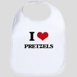 I Love Pretzels ( Food ) Bib
