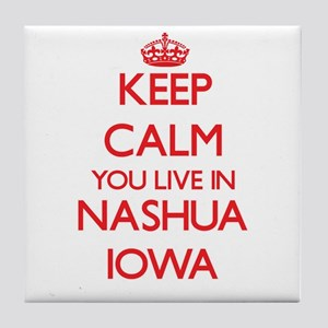 Keep calm you live in Nashua Iowa Tile Coaster