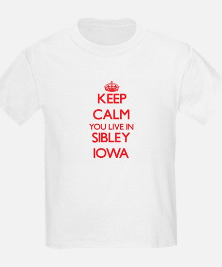Keep calm you live in Sibley Iowa T-Shirt