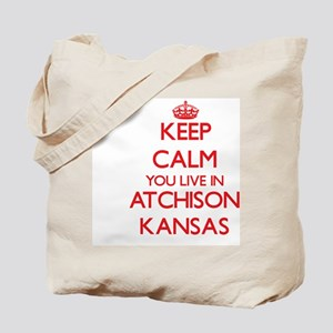 Keep calm you live in Atchison Kansas Tote Bag
