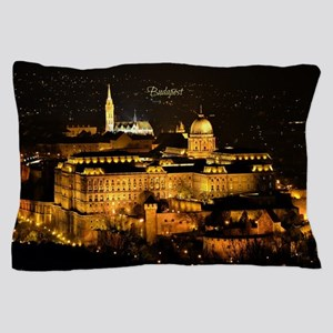 Photograph of Budapest at Night Pillow Case