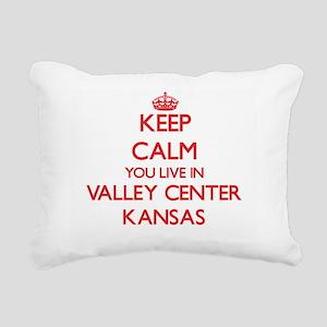 Keep calm you live in Va Rectangular Canvas Pillow