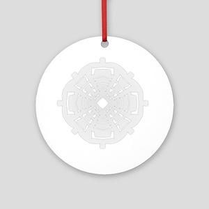 Winter flake VII Ornament (Round)