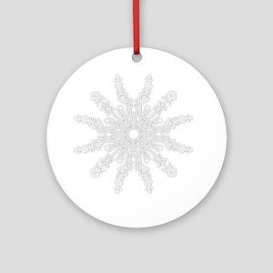 Winter Flake V Ornament (Round)