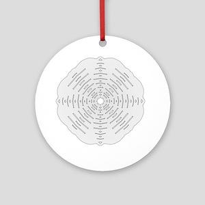 Winter Flake III Ornament (Round)