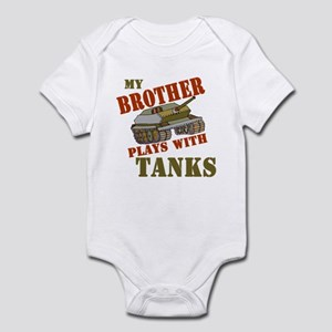 Brother Plays with Tanks Infant Bodysuit