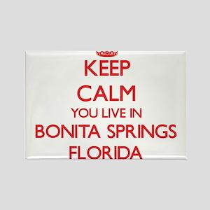 Keep calm you live in Bonita Springs Flori Magnets