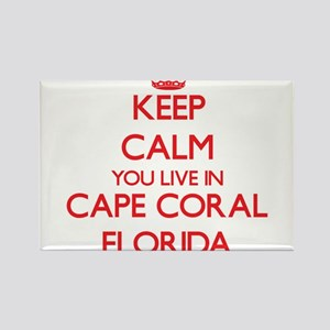 Keep calm you live in Cape Coral Florida Magnets