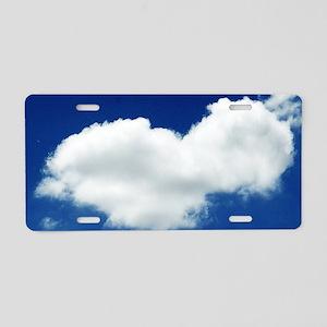 Cloudheart Aluminum License Plate