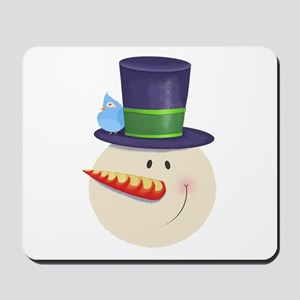 Snowman Face Mousepad