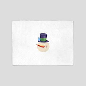 Snowman Face 5'x7'Area Rug