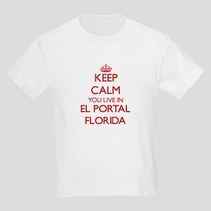 Keep calm you live in El Portal Florida T-Shirt