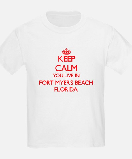 Keep calm you live in Fort Myers Beach Flo T-Shirt