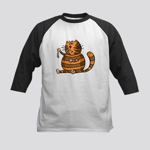 Cat With Fish Bones Baseball Jersey