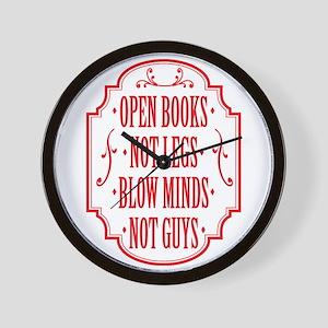 Open Books Not Legs Wall Clock