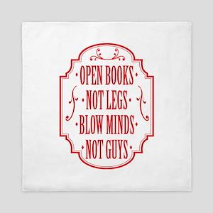 Open Books Not Legs Queen Duvet